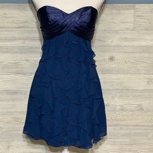 Fun and frilly Faviana New York strapless dress